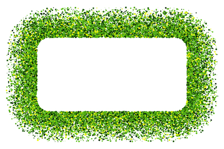 St. Patrick's Day symbol. Green frame isolated on white background. Flat design element.