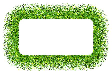 St. Patrick's Day symbol. Green frame isolated on white background. Flat design element.