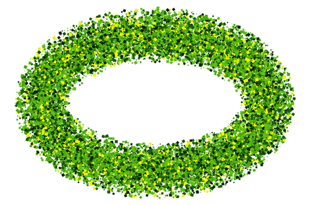 St. Patricks Day symbol. Green frame isolated on white background.