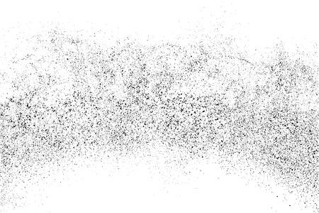 Zwarte korrelige textuur geïsoleerd op een witte achtergrond. Distress overlay textuur. Grunge ontwerpelementen. Vector illustratie Stock Illustratie