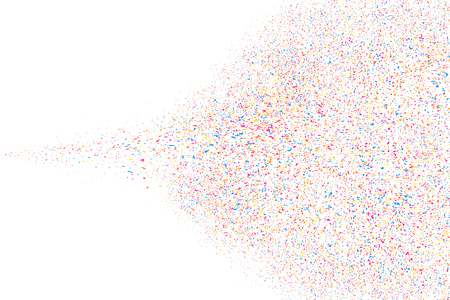 Abstract explosion of confetti. Colored stains and blots. Colorful grainy texture isolated on white background.  Vector illustration,eps 10.