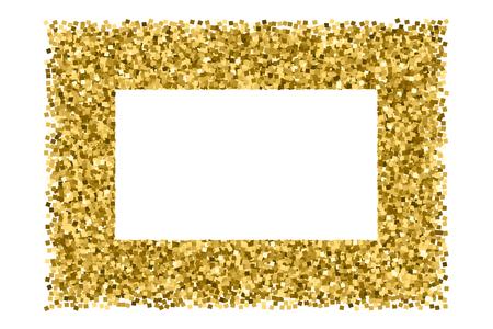 Gold frame glitter texture