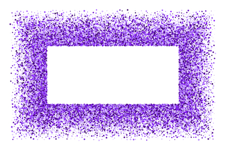 Purple frame isolated on white background. Vettoriali