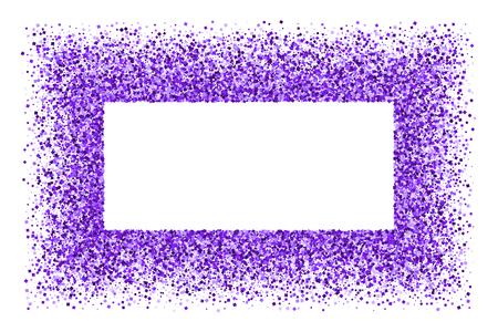 Purple frame isolated on white background. Ilustração