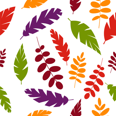 Simple leaves pattern isolated on white background.