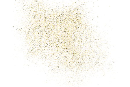 Gold glitter texture isolated on white Vector illustration