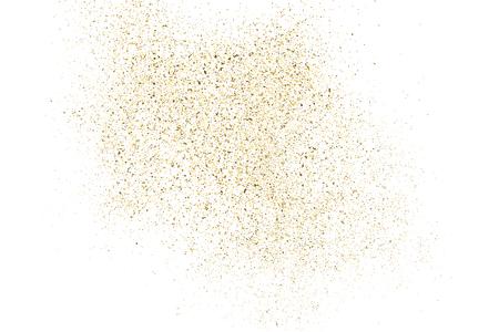 Gold glitter texture isolated on white Vector illustration