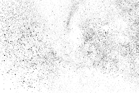 Texture granuleuse noire isolée sur fond blanc. Superposition de détresse texturée. Éléments de conception grunge. Illustration vectorielle, eps 10.