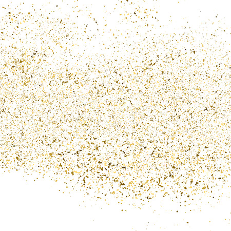 Gold glitter texture isolated on white square. Amber particles color. Celebratory background. Explosion of confetti. Vector illustration,eps 10.