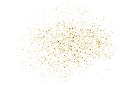Gold glitter texture isolated on white. Amber particles color. Celebratory background. Golden explosion of confetti. Vector illustration,eps 10.