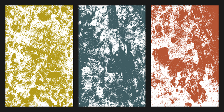 Colored grunge texture. Set of different colors abstract background for your design. Colorful wallpaper elements. Vector illustration,eps 10.