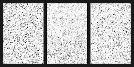 Black grainy texture isolated on white background. Damaged textured . Grunge design elements. Set vector illustration,eps 10.