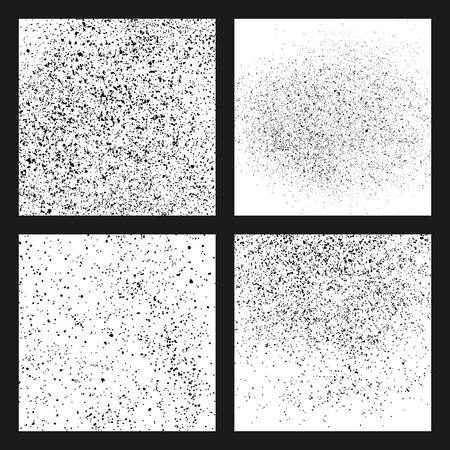 Black grainy texture isolated on white background. Damaged textured . Grunge design elements. Set vector illustration,eps 10.