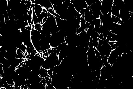 White scratches isolated on black background. Particles overlay texture. Grunge design elements. Vector illustration,eps 10. Ilustrace