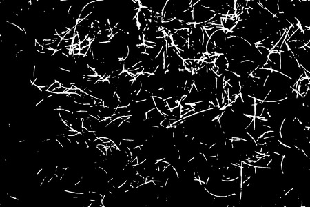 White scratches isolated on black background. Particles overlay texture. Grunge design elements. Vector illustration,eps 10. Illustration