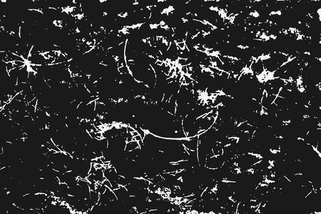 White scratches isolated on black background. Particles overlay texture. Grunge design elements. Vector illustration,eps 10.