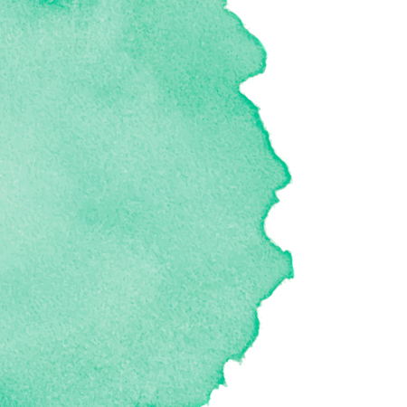 Green abstract watercolor background with space for text. Editable template for banner, poster, cover, brochure, flyer. Vector illustration, eps 10. 矢量图像