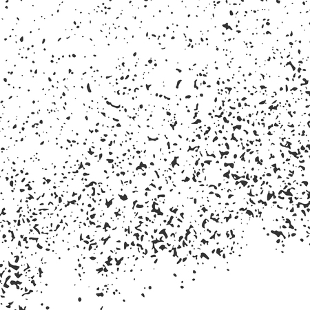 Black Grainy Texture Isolated On White Background. Dust Overlay. Dark Noise Granules. Digitally Generated Image. Vector Design Elements