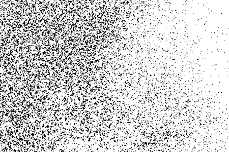 Black Grainy Texture Isolated On White Background. Dust Overlay. Dark Noise Granules. Digitally Generated Image. Vector Design Elements, Illustration, Eps 10. Illustration
