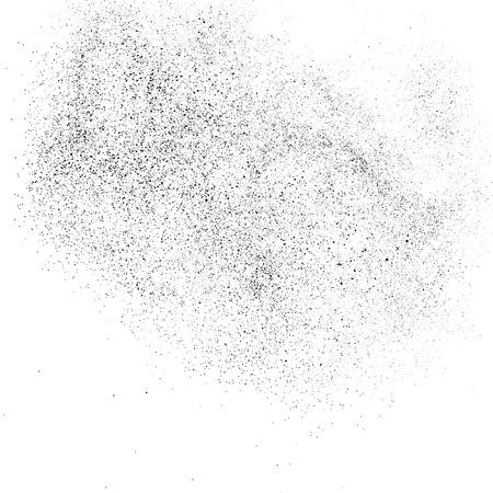 Textura granulada negra aislada sobre fondo blanco. Superposición de polvo. Gránulos de ruido oscuro. Imagen generada digitalmente. Elementos de diseño vectorial, ilustración, Eps 10.