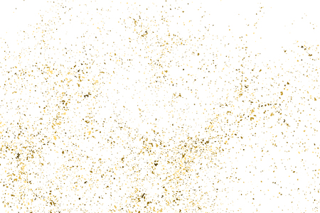 Gold Glitter Texture Isolated On White. Amber Particles Color. Celebratory Background. Golden Explosion Of Confetti. Design Element. Digitally Generated Image. Vector Illustration, Eps 10. Ilustração