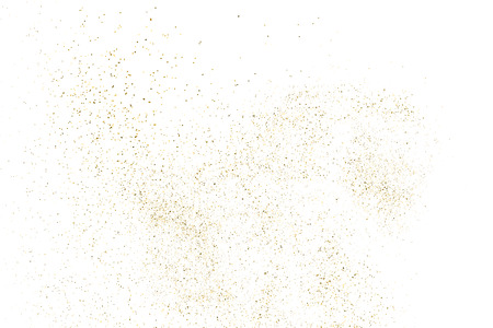 Gold Glitter Texture Isolated On White. Amber Particles Color. Celebratory Background. Golden Explosion Of Confetti. Design Element. Digitally Generated Image. Vector Illustration, Eps 10. Illustration