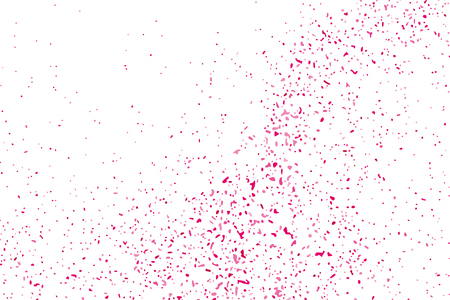 Abstract Background Happy Valentines Day. Scarlet Explosion Of Confetti Isolated On White. Pink Glitter. Overlay Texture.  Digitally Generated Image. Illustration