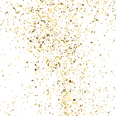 Gold Glitter Texture Isolated On White. Amber Particles Color. Celebratory Background. Golden Explosion Of Confetti. Design Element. Digitally Generated Image. Vector Illustration, Eps 10. Vektorgrafik