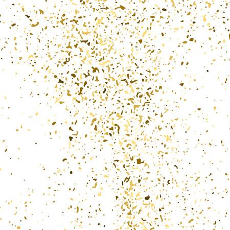 Texture De Paillettes D'or Isolé Sur Blanc. Couleur des particules d'ambre. Contexte de célébration. Explosion Dorée De Confettis. Élément de conception. Image générée numériquement. Illustration vectorielle, Eps 10. Vecteurs