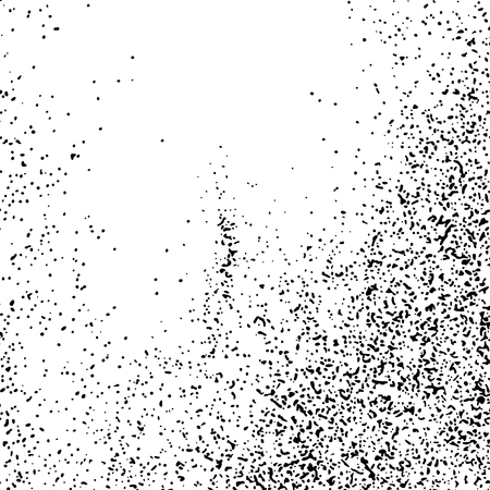 Black Grainy Texture Isolated On White Background. Dust Overlay. Dark Noise Granules. Digitally Generated Image. Vector Design Elements, Illustration, Eps 10. Vettoriali