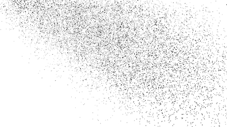 Black Grainy Texture Isolated On White Background. Distress Overlay Textured. Grunge Design Elements.