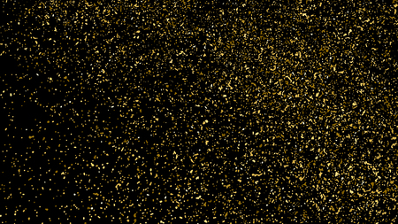 Gold Glitter Texture Isolated On Black. Amber Particles Color. Celebratory Background. Golden Explosion Of Confetti. Design Element. Digitally Generated Image. Vector Illustration, Eps 10.