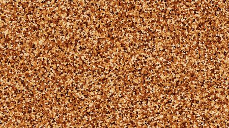 Coffee Color Texture. Chocolate Shades Confetti. Brown Particles Background. Digitally Generated Image. Vector Illustration. Ilustração