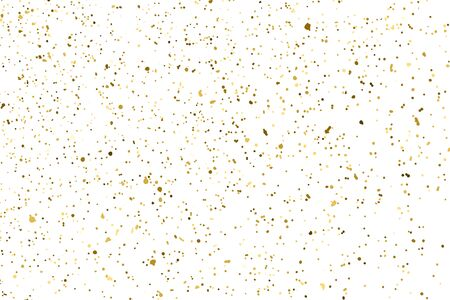 Gold Glitter Texture Isolated On White. Amber Particles Color. Celebratory Background. Golden Explosion Of Confetti. Design Element. Digitally Generated Image. Vector Illustration Ilustrace