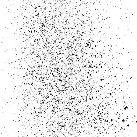 Black Grainy Texture Isolated on White Square Background. Dust Overlay. Dark Noise Granules. Digitally Generated Image. Vector Design Elements, Illustration, Eps 10.