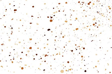Coffee Color Grain Texture Isolated on White Background. Chocolate Shades Confetti. Brown Particles. Vector Illustration