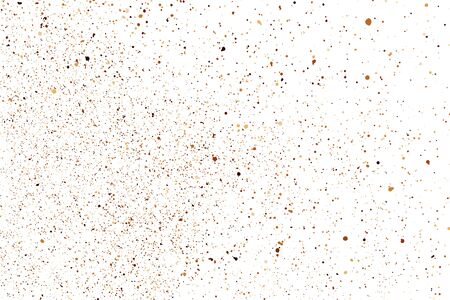Coffee Color Grain Texture Isolated on White Background. Chocolate Shades Confetti. Brown Particles.