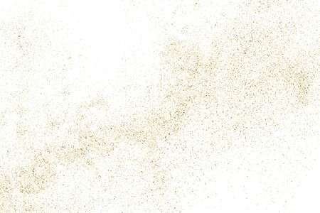 Gold Glitter Texture Isolated on White. Amber Particles Color. Celebratory Background. Golden Explosion of Confetti. Design Element.