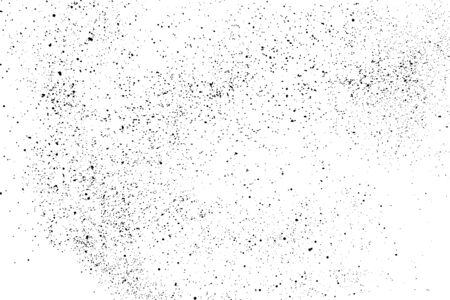 Black grainy texture isolated on white background. Dust overlay. Dark noise granules. Digitally generated image.