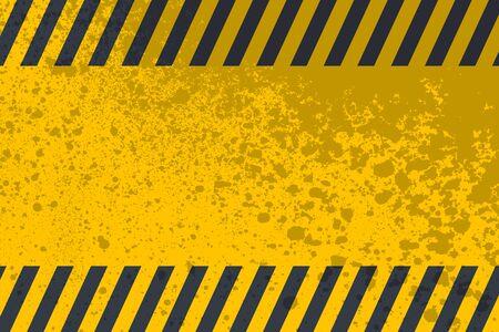 Grunge danger background. Textured hazard backdrop. Digitally generated image. Vector design elements. Illustration