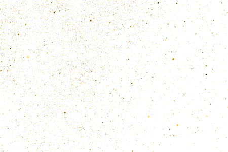 Gold Glitter Texture Isolated on White. Amber Particles Color. Celebratory Background. Golden Explosion of Confetti. Design Element. Digitally Generated Image. Vector Illustration 矢量图像
