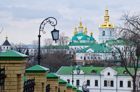 lavra: Christian church. Kiev Pecherskaya Lavra Stock Photo