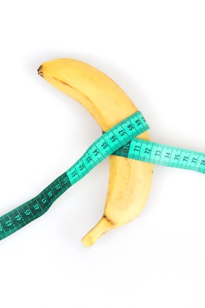 impotent: Large banana and measuring tape, Diet for mens health