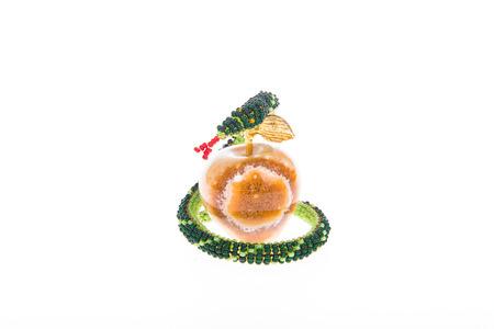 onyx: Snake beaded wraps apple from onyx