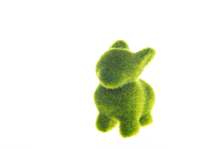 year of the rabbit: Green toy rabbit, a symbol of the new year
