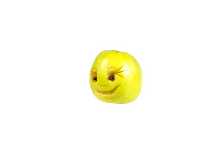 desprecio: Happy smiling smiley out of the apple. Feelings, attitudes and emotions.