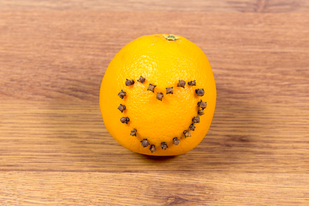 Ripe, juicy, sweet, orange orazhevy Heart of cloves beans in form of heart - a surprise Valentines Day.