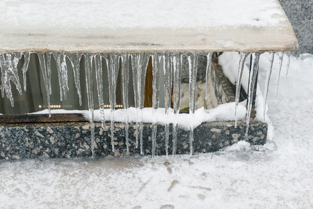 Icicles are very dangerous for peoples life dangerous seasonal weather