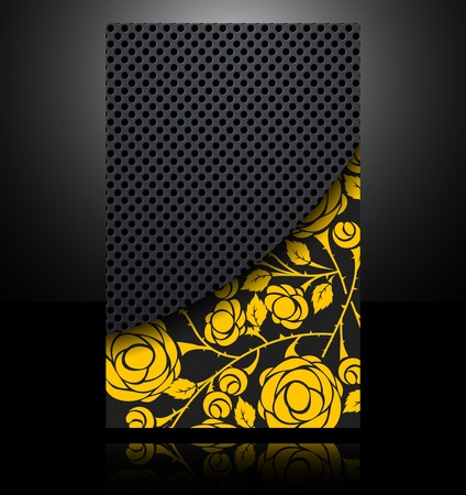 brochure card banner metal flower abstract background style