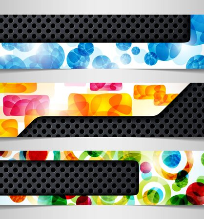 hybrid: banner  hybrid combination abstract metal iron background